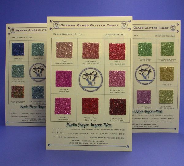 Sample Cards of German Glitter